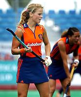 Europees Kampioenschap Hockey vrouwen. De Nederlandse Fatima Moreiro de Melo. Spits heeft een verhaal met haar maar wil geen geld uitgeven voor een opdracht. Misschien kan deze foto in deDDC, zodat ze alsnog een foto van haar kunnen  plaatsen.<br />Heb je inmiddels m'n mailtje gelezen?