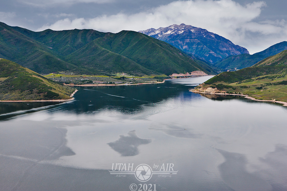 Looking South over Deer Creek Reservoir towards Provo Canyon