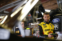 August 10, 2018 - Brooklyn, Michigan, United States of America - Matt DiBenedetto (32) hangs out in the garage during practice for the Consumers Energy 400 at Michigan International Speedway in Brooklyn, Michigan. (Credit Image: © Justin R. Noe Asp Inc/ASP via ZUMA Wire)