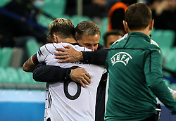 LJUBLJANA, SLOVENIA - JUNE 06: Stefan Kuntz, head coach of Germany and Niklas Dorsch of Germany during the 2021 UEFA European Under-21 Championship Final match between Germany and Portugal at Stadion Stozice on June 06, 2021 in Ljubljana, Slovenia. Photo by Grega Valancic / Sportida