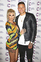 Olivia Buckland & Alex Bowen arriving at James Ingham's London Marathon fundraising event, Jog On To Cancer, in aid of Cancer Research UK at The Roof Gardens in Kensington, London. To find out more about Cancer Research UK's 2017 marathon team visit cancerresearchuk.org/sportschallenges, 12 April 2017, Photo by Brett D. Cove