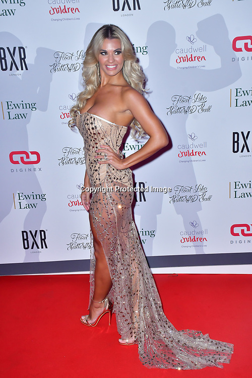 Christine McGuinness arrive at Float Like A Butterfly Ball for Caudwell Children Charity at Grosvenor House Hotel on 16 November 2019, London, UK.
