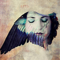 """A bird dreaming woman. High frequency, surrealism.<br /> <br /> <br /> """"...we're capable of a transcendent response, and I think it makes us happy.<br /> <br /> -Agnes Martin<br /> <br /> ...........................................................<br /> <br /> Agnes Bernice Martin (March 22, 1912 – December 16, 2004) was an American abstract painter. Often referred to as a minimalist, Martin considered herself an abstract expressionist Her work has been defined as an """"essay in discretion, inwardness and silence"""".<br /> <br /> She was awarded a National Medal of Arts from the National Endowment for the Arts in 1998<br /> <br /> <br /> ............................................................................<br /> <br /> """"The personal life deeply lived always expands into truths beyond itself."""" <br /> ― Anaïs Nin"""