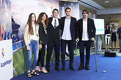 June 14, 2018 - Madrid, Madrid, Spain - Julen Lopetegui, Rosa Sanchez Maqueda and sons during the presentation of Julen Lopetegui as new head coach of Real Madrid F.C. at Santiago Bernabeu Stadium on June 14, 2018 in Madrid, Spain (Credit Image: © Jack Abuin via ZUMA Wire)
