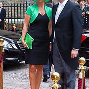 NLD/Den Haag/20130917 -  Prinsjesdag 2013, Staatssecretaris van Financiën Frans Weekers en partner …..