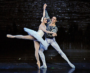 2/25/2008 -- GASTON DE CARDENAS/EL NUEVO HERALD -- Hayna Guiterrez as Odette and Miguel Angel Blanco as Prince Siegfried in Cuban Classical Ballet's production of Tchaikovsky's Swan Lake at the Jackie Gleason Theater of the Performing Arts.