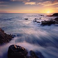 Sunset at Kaena Point on Oahu Island's West coast.