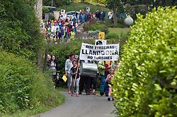 Anti wind turbine protest, Llanddona, Anglesey, Wales