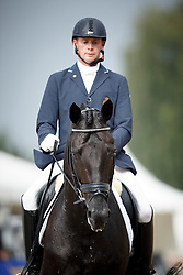 Heylen Tom, (BEL), Jar of Ballmore<br /> First Qualifier 6 years old horses<br /> World Championship Young Dressage Horses - Verden 2015<br /> © Hippo Foto - Dirk Caremans<br /> 07/08/15