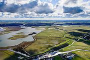 Nederland, Friesland, Gemeente Dongeradeel, 28-02-2016; Ezumazijl, Ezumakeeg, natuurgebied op de grens van het Lauwersmeer en Kollumerwaard.<br /> Nature area on the border of former inner sea.<br /> luchtfoto (toeslag op standard tarieven);<br /> aerial photo (additional fee required);<br /> copyright foto/photo Siebe Swart