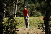 HILVERSUM -  Ronan Kleu (Swiss)  /  Swiss wins from France. Quarter finals. ELTK Golf 2020 The Dutch Golf Federation (NGF), The European Golf Federation (EGA) and the Hilversumsche Golf Club will organize Team European Championships for men. COPYRIGHT KOEN SUYK