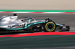 February 28, 2019 - Barcelona, Catalonia, Spain - the Mercedes of Lewis Hamilton during the Formula 1 test in Barcelona, on 28th February 2019, in Barcelona, Spain. (Credit Image: © Joan Valls/NurPhoto via ZUMA Press)