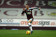 David Jones of Burnley in action. Skybet football league Championship match, Burnley v Huddersfield Town at Turf Moor in Burnley ,Lancs on Saturday 31st October 2015.<br /> pic by Chris Stading, Andrew Orchard sports photography.