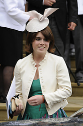 File photo dated 17/05/08 of Princess Eugenie outside St George's Chapel in Windsor after the marriage ceremony of Peter Phillips and Autumn Kelly. Buckingham Palace has announced that Princess Eugenie has become engaged to Jack Brooksbank.