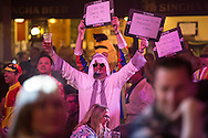 Fans during the First Round of the BetVictor World Matchplay Darts at the Empress Ballroom, Blackpool, United Kingdom on 19 July 2015. Photo by Shane Healey.