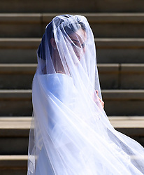 Meghan Markle arrives at St George's Chapel in Windsor Castle for her royal wedding ceremony to Britain's Prince Harry, in Windsor, Britain, 19 May 2018. photo by Neil Hall/ABACAPRESS.COM