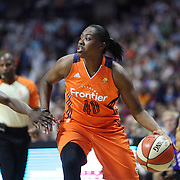UNCASVILLE, CONNECTICUT- JULY 15:  Shekinna Stricklen #40 of the Connecticut Sun in action during the Los Angeles Sparks Vs Connecticut Sun, WNBA regular season game at Mohegan Sun Arena on July 15, 2016 in Uncasville, Connecticut. (Photo by Tim Clayton/Corbis via Getty Images)