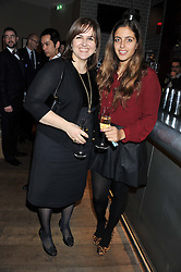 Left to right, DOUNIA NADAR and AIDA NADAR attend the MARC Restaurants Truffle Dinner hosted by Marlon & Nadya Abela at Cassis, 232-236 Brompton Road, London on 13th February 2013.