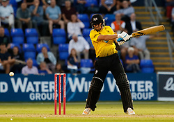 Gloucestershire's Benny Howell in action today <br /> <br /> Photographer Simon King/Replay Images<br /> <br /> Vitality Blast T20 - Round 8 - Glamorgan v Gloucestershire - Friday 3rd August 2018 - Sophia Gardens - Cardiff<br /> <br /> World Copyright © Replay Images . All rights reserved. info@replayimages.co.uk - http://replayimages.co.uk