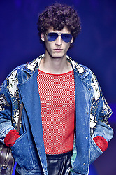 Model Matthieu Villot walks on the runway during the Gucci Fashion Show during Milan Fashion Week Spring Summer 2018 held in Milan, Italy on September 20, 2017. (Photo by Jonas Gustavsson/Sipa USA)