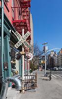 Soho streets one of the main Manhattan Landmarks in New York City USA
