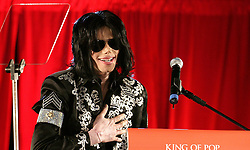 """EMBARGOED TO 0001 MONDAY FEBRUARY 25 File photo dated 05/03/09 of Michael Jackson who was """"very manipulative and very deliberate in his grooming"""" of young boys, according to the director of a controversial documentary about the pop superstar."""