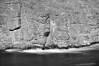 Blurred water at Miles Canyon, Yukon