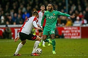 Watford midfielder Nathaniel Chalobah (14) on the ball during the The FA Cup 3rd round match between Woking and Watford at the Kingfield Stadium, Woking, United Kingdom on 6 January 2019.