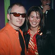 Opening 538 discotheek Huizen, Jeroen van Inkel en vriendin Sandra