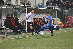 November 3, 2018 - Vercelli, Italy - Italian defender Filippo Berra from Pro Vercelli team playing during Saturday evening's match against Novara Calcio valid for the 10th day of the Italian Lega Pro championship  (Credit Image: © Andrea Diodato/NurPhoto via ZUMA Press)