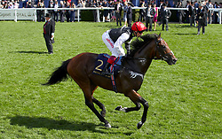 Cracksman ridden by Jockey Frankie Dettori goes to post for the Prince Of Wales's Stakes