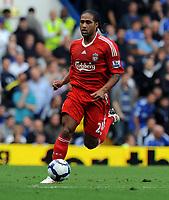 Fotball<br /> England<br /> Foto: Fotosports/Digitalsport<br /> NORWAY ONLY<br /> <br /> Glen Johnson<br /> Liverpool 2009/10<br /> Chelsea V Liverpool (2-0) 04/10/09<br /> The Premier League