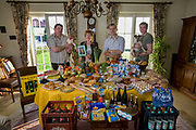 Luxembourg. Family portrait of the Kutten-Kass family with one week's worth of food in April. The Hungry Planet project.