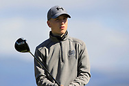 Ben Crawford (Greenacres) on the 8th tee during Round 2 of the Ulster Boys Championship at Donegal Golf Club, Murvagh, Donegal, Co Donegal on Thursday 25th April 2019.<br /> Picture:  Thos Caffrey / www.golffile.ie