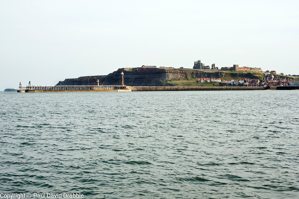 Whitby from the sea North Yorkshire.September 2010 .Images © Paul David Drabble