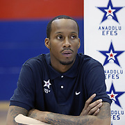 Turkish Basketball team Anadolu Efes's Tarence KINSEY during their press conference at Anadolu Efes sports hall in Istanbul Turkey on Tuesday 23 August 2011. Photo by TURKPIX
