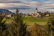 Afternoon light, October, Dolomite Mountains,  Province of Bolzano-Bozen, South Tyrol, Vols, Italy