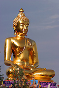 Statue of Buddha at the golden temple Wat Phra Doi Suthep Chiang Mai,  Thailand Oct, 2005