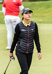 April 26, 2018 - San Francisco, CA, U.S. - SAN FRANCISCO, CA - APRIL 26: Lydia Ko of New Zealand shows some dissatisfaction after missing a putt on the 4th hole during the first round of the 2018 LPGA MEDIHEAL Championship on April 26, 2018 at the Lake Merced Golf Club in San Francisco, CA. (Photo by Douglas Stringer/Icon Sportswire) (Credit Image: © Douglas Stringer/Icon SMI via ZUMA Press)