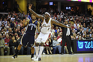 Ben Wallace celebrates after forcing a five-second penalty on Kyle Lowry and Memphis during his first game in a Cavaliers' uniform.