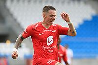 Fotball , 17. juni 2020 , Eliteserien,<br />Haugesund - Brann Bergen<br />Robert Taylor fra Brann Bergenskåring først mål mot  Haugesund.<br />Foto: Andrew Halseid Budd , Digitalsport