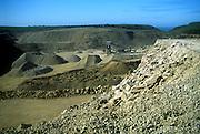 Portland limestone quarry Langton Matravers Isle of Purbeck Swanage Dorset England