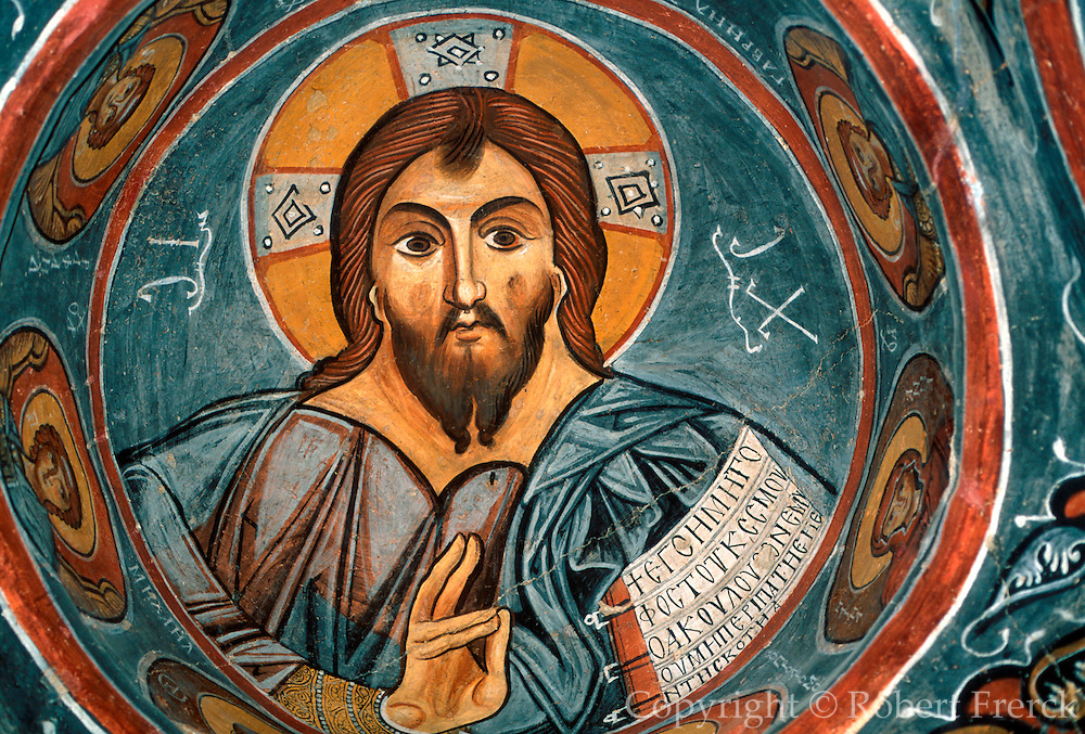 TURKEY, CAPPADOCIA Karanlik Kilise; the Pentocrator