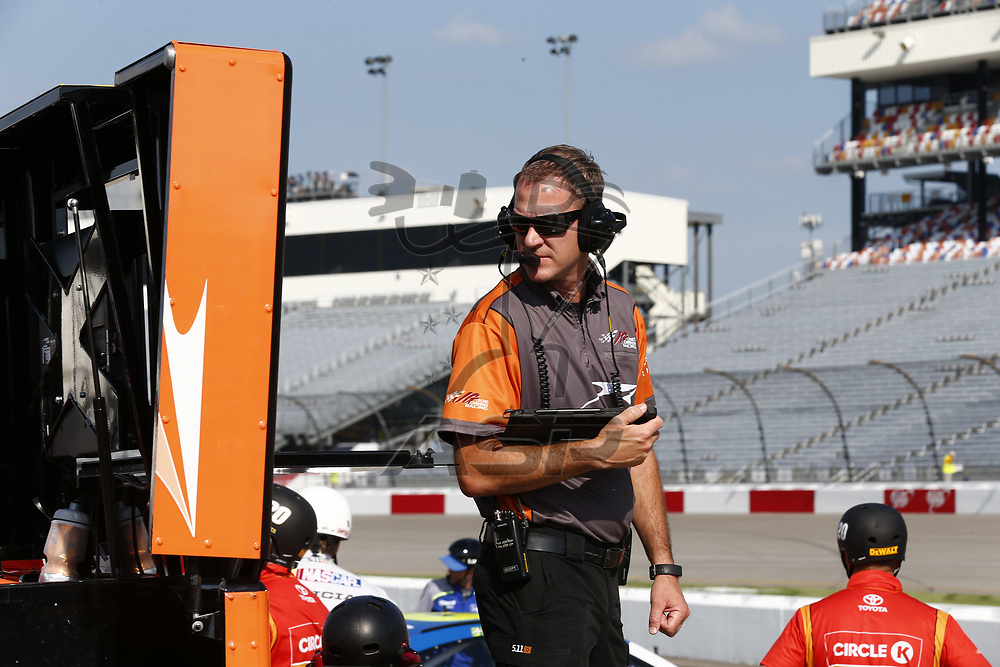 April 28, 2017 - Richmond, Virginia, USA: Daniel Suarez (19) hangs out on pit road prior to qualifying for the Toyota Owners 400 at Richmond International Speedway in Richmond, Virginia.