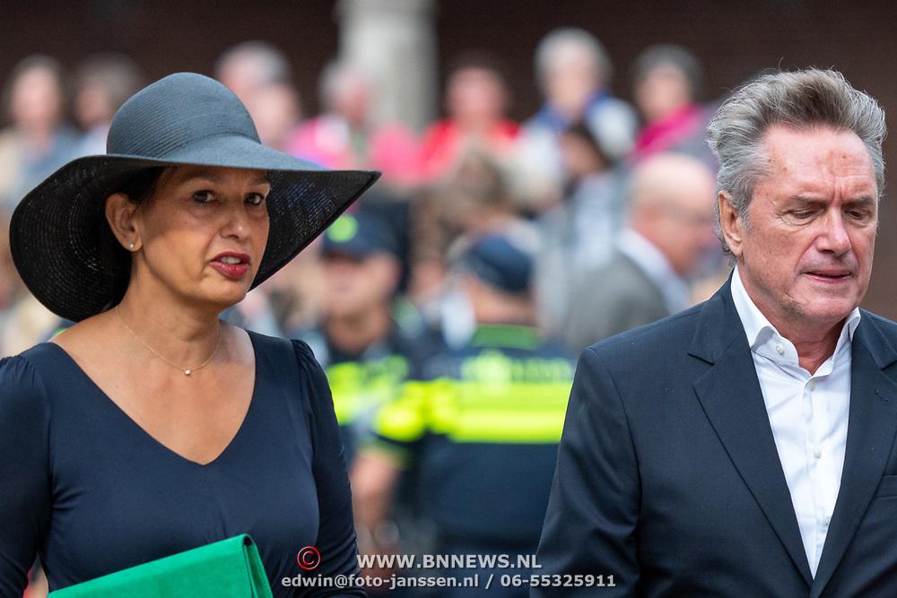 NLD/Den Haag/20190917 - Prinsjesdag 2019, Henny Vrienten met zijn partner Gala Veldhoen