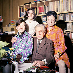 The new Poet Laureate Cecil Day-Lewis wih his wife, Jill, daughter Tamasin (14), and son Daniel (10), at their Greenwich, London, home. Daniel Day-Lewis has gone on to become a successful actor.