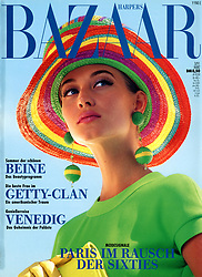 Cover Editorial Pool Parade Barbados Story. <br /> Photographed at Sam Lord's Castle in Barbados<br /> Harper's Bazaar Germany<br /> Model: Rachel <br /> Makeup: Timothy Metz<br /> Style Editor: Gundi Patscheider<br /> Agent: Mariane Linke<br /> Photographer ©Amyn Nasser - All Rights Reserved.<br /> <br /> Gear and Technical Details: <br /> Shot on Nikon F2A Nikon F4 <br /> 35mm F1.4 50mm F1.4 85mm F1.4 200 mm F2.0 ED-IF <br /> Flash: Metz 45 CT1 Direct Bulb.<br /> <br /> Film: <br /> Fuji Velvia 35mm push process.<br /> Kodak Ektachrome 35mm EES 400 push 800-1600 push process.<br /> 35mm Black & White Kodak Tri-X Push Process ISO 1000 Processed at 1200 -1400 ISO Hand Printed by IMAGENOIR Paris on ILFORD Bromide Grade 3. Hand Copper Toned, Air Dry, Heat Pressed. <br /> RePurposed 35mm Transparency Film Artwork Third Generation for the Campaign. Transparency Film  processed by The Lab PinUp Studios Paris.