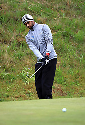 England's Aaron Rai on the 10th green during day one of the Betfred British Masters at Hillside Golf Club, Southport.