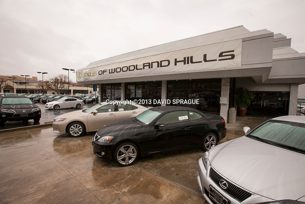 The existing showroom will stay open during the expansion at Lexus of Woodland Hllls Jan. 25, 2013.Photo by David Sprague