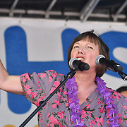 Frances O'Grady of TUC at Whitehall rally NHS at 70: Free, for all, forever on June 30th, 2018.